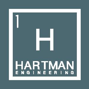 Hartman Engineering H1 box logo, white