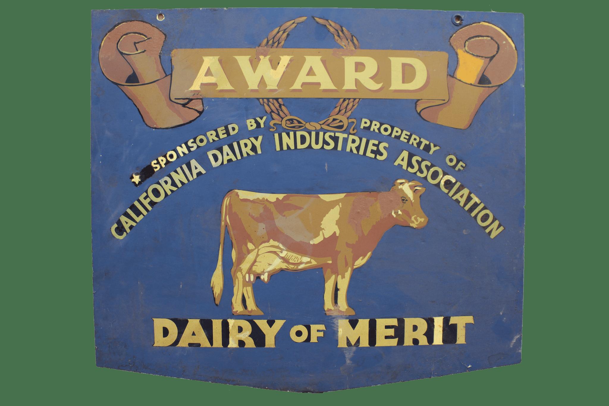 California Dairy Industries Association Dairy of Merit Award